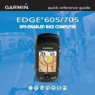 Garmin Edge® 705 - Quick reference guide