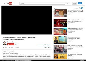 Vastu Solution with Maruti Yantra , How to sell Your Plot with Maruti Yantra