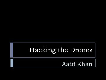 Hacking the Drones