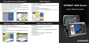 Garmin GPSMAP 4010 - Quick Reference Guide