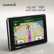 Garmin nuLink!1695,GPS,NA,Avis - Quick Start Manual