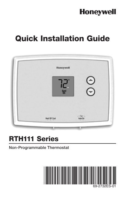 diagram honeywell non programable thermostat wiring