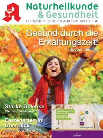 Naturheilkunde & Gesundheit - Leseprobe Ihrer Apothekenzeitschrift