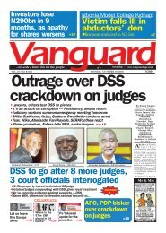 Outrage over DSS crackdown on judges
