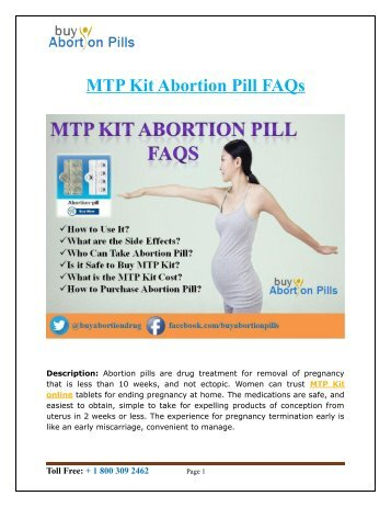 MTP Kit Abortion Pill FAQs at BuyAbortionPills.net