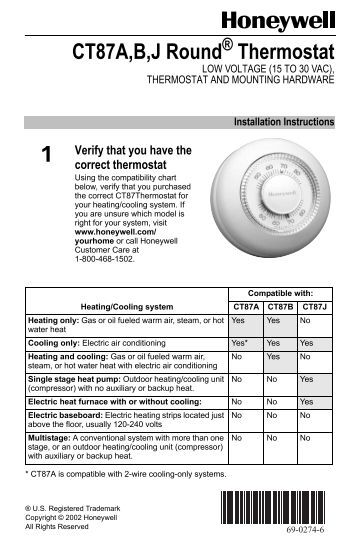 68 0163 t7100d e f microelectronic commercial honeywell honeywell round® non programmable thermostat ct87 round non programmable thermostat