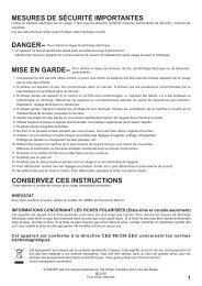 Singer 7470 - English, French, Spanish - User Manual