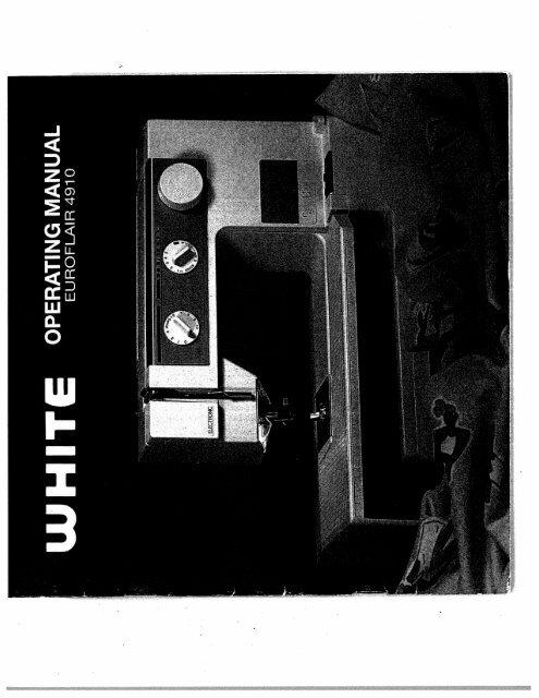 Singer W4910 Euroflair - English - User Manual