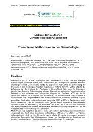 Therapie mit Methotrexat in der Dermatologie - AWMF