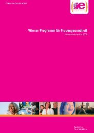 Jahresbericht 2006 - Frauengesundheit-Wien