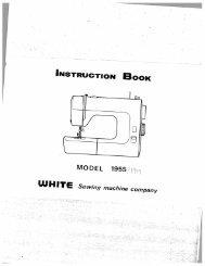Singer W1955 - English - User Manual