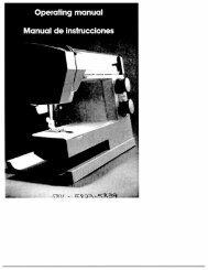 Singer W5811 W5823 W5839 - English - User Manual