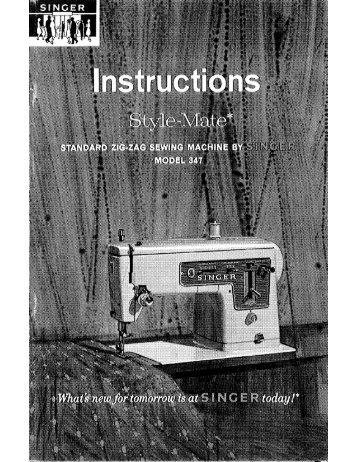 Singer Style Mate - English - User Manual
