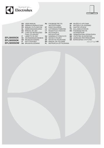 Electrolux EFL50555OW - Télécharger FR manuel au format PDF (9759 Kb)