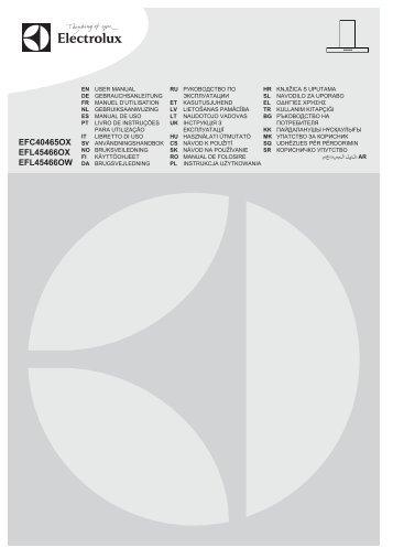 Electrolux EFL45466OW - Télécharger FR manuel au format PDF (16931 Kb)