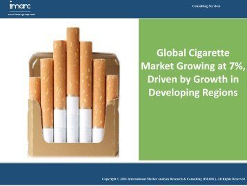 Global Cigarette Market Share, Size, Development and Opportunities