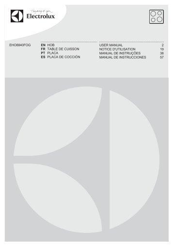 Electrolux EHO8840FOG - Télécharger FR manuel au format PDF (1182 Kb)
