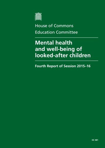 Mental health and well-being of looked-after children