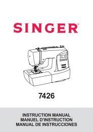 Singer 7426 - English, French, Spanish - User Manual