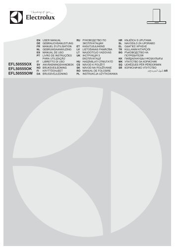 Electrolux EFL50555OX - Télécharger FR manuel au format PDF (9759 Kb)