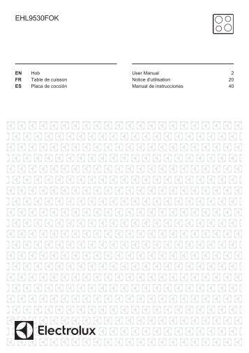 Electrolux EHL9530FOK - Télécharger FR manuel au format PDF (934 Kb)