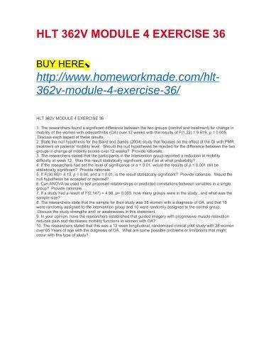 HLT 362V MODULE 4 EXERCISE 36