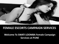 SWATI LOOMBA FEMALE CAMPAIGN SERVICE AT PUNE