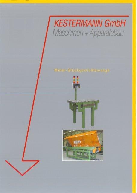 Meter-Stückgewichtswaage - Kestermann Maschinen