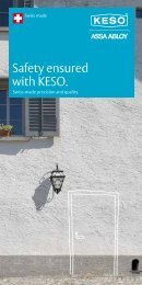Safety ensured with KESO. - ASSA ABLOY (Switzerland) AG