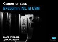 Canon EF 200mm f/2L IS USM - EF 200mm f/2L IS USM Instruction Manual