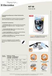 Electrolux Kit Electrolux AUTO CAR KIT09 - fiche produit