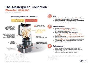 Electrolux Blender Electrolux Master piece Collection ESB9300 - fiche produit