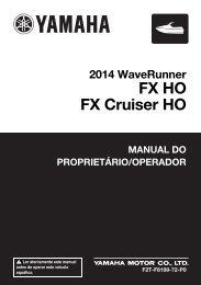 Yamaha FX HO Cruiser - 2014 - Manuale d'Istruzioni Português