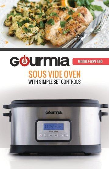 Gourmia 9Qt.Sous Vide Oven -