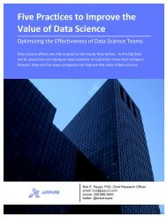 Five Practices to Improve the Value of Data Science