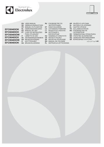 Electrolux EFC60465OX - Télécharger FR manuel au format PDF (6442 Kb)