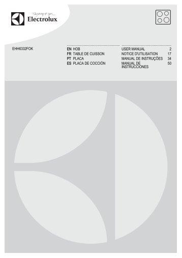 Electrolux EHH6332FOK - Télécharger FR manuel au format PDF (12161 Kb)