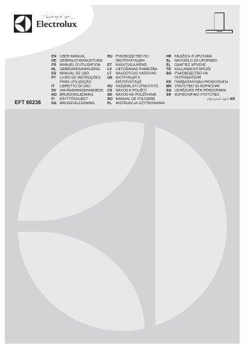 Electrolux EFT60236OW - Télécharger FR manuel au format PDF (10863 Kb)