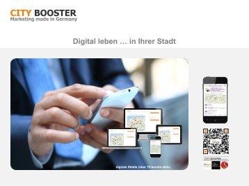 CITY-BOOSTER: Digital leben... in Deiner Stadt – Ausgabe 08/16
