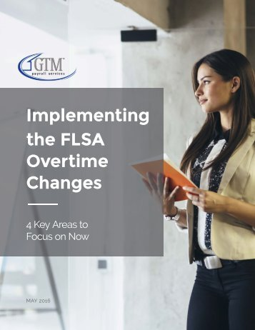 Implementing the FLSA Overtime Changes