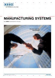 Manufacturing systeMs - KESO GmbH