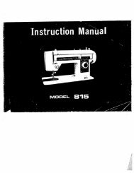 Singer W815 - English - User Manual
