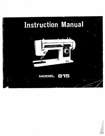 SINGER Model 40 Simp Inspiration Singer Sewing Machine Model 7422 Manual