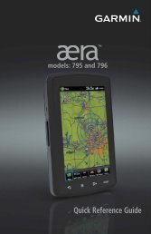 Garmin aera® 795 - Quick Reference Guide
