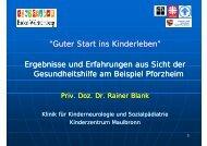 """""""Guter Start ins Kinderleben"""" Ergebnisse und Erfahrungen aus Sicht ..."""