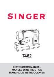 Singer 7462 - English, French, Spanish - User Manual