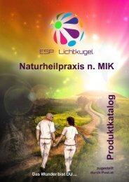 Produktkatalog der Naturheilpraxis Lichtkugel nach MIK
