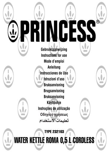 Princess Waterkettle Roma - 232163 - 232163_Manual.pdf