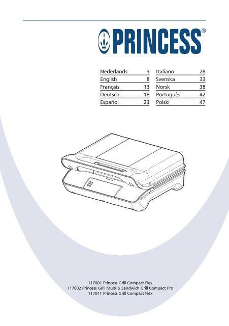 Princess Grill Compact Flex.Princess Grill Compact Flex 117011 117011 Manual Pdf