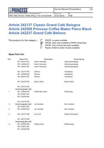 Princess Grand Café Bologna - 242137 - 242137_Manual.pdf
